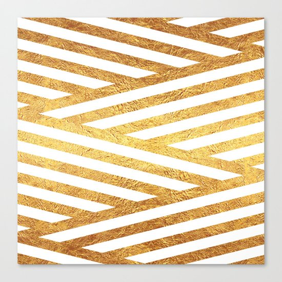 Gold Stripes Canvas Print