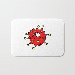 Red Doodle Germ Bath Mat