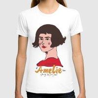 amelie T-shirts featuring Amelie Print 3 by Saffa Khan