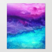 island Canvas Prints featuring The Sound by Jacqueline Maldonado