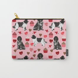 Newfoundland valentines day pink hearts love dog breeds unique gifts for pet owners Carry-All Pouch
