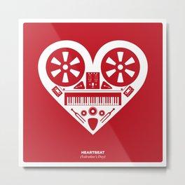 Heartbeat (Valentine's Day) Metal Print