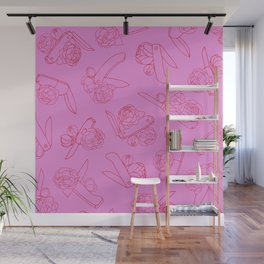 Peonies and Switchblades Wall Mural