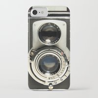 camera iPhone & iPod Cases featuring Vintage Camera by Ewan Arnolda
