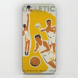 Vintage poster - Athletics iPhone Skin