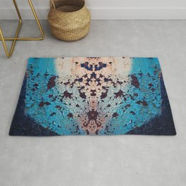 Industrial structure with rust spots Rug