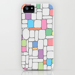 Pastel Stone Wall iPhone Case