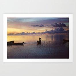 Fisherman (Moluccas, Indonesia) Art Print