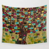 leon Wall Tapestries featuring :: Jewel Tree :: by :: GaleStorm Artworks ::