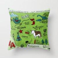 montana Throw Pillows featuring MONTANA by Christiane Engel
