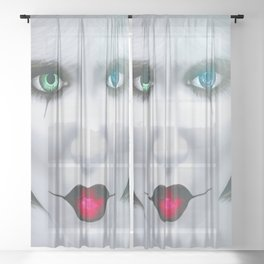 Harlequin Eyes Of A Different Color Sheer Curtain