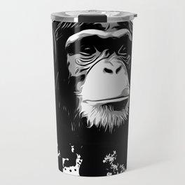 Monkey Business - White Travel Mug
