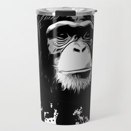 Monkey Business - White Travel Mug