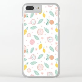 Fruit Popping Summer design Clear iPhone Case