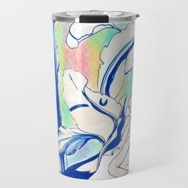 Plant in Blue Marker - Leaf of Life Miracle Leaf - Rainbow Colorful 2 Travel Mug