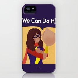 Kamala Khan Can Do It! iPhone Case