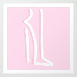 Bubble Gum Pink Stiletto Art Print