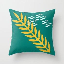 California Giant Kelp Throw Pillow