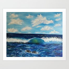 Waves of change Art Print