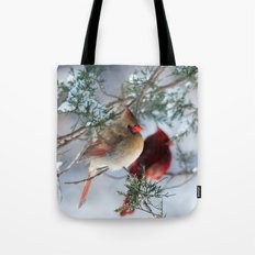 Shining on Her Own (Cardinal) Tote Bag