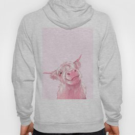 Highland Cow Pink Hoody