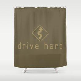 Drive Hard v4 HQvector Shower Curtain