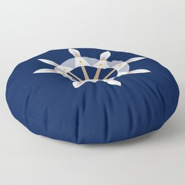 Nautical Rudder Floor Pillow