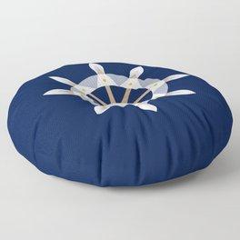 Nautical Rudder Floor Pillow