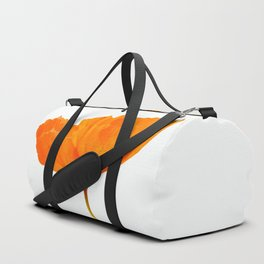 One And Only - Orange Poppy White Background #decor #society6#buyart Duffle Bag