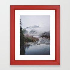 Fog Mountain Framed Art Print