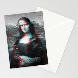 Glitch Mona Lisa Stationery Cards
