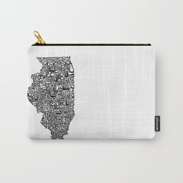 Typographic Illinois Carry-All Pouch
