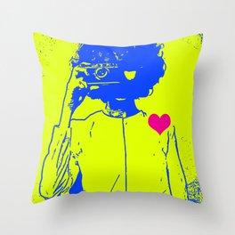 I <3 Photography, Woman Photographer Throw Pillow