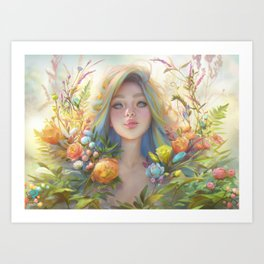 clip studio paint portrait Art Print
