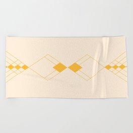 Minimal Geometry - Golden Beach Towel