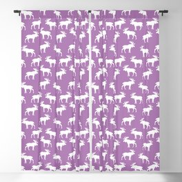 Moose Trot // Light Orchid Blackout Curtain