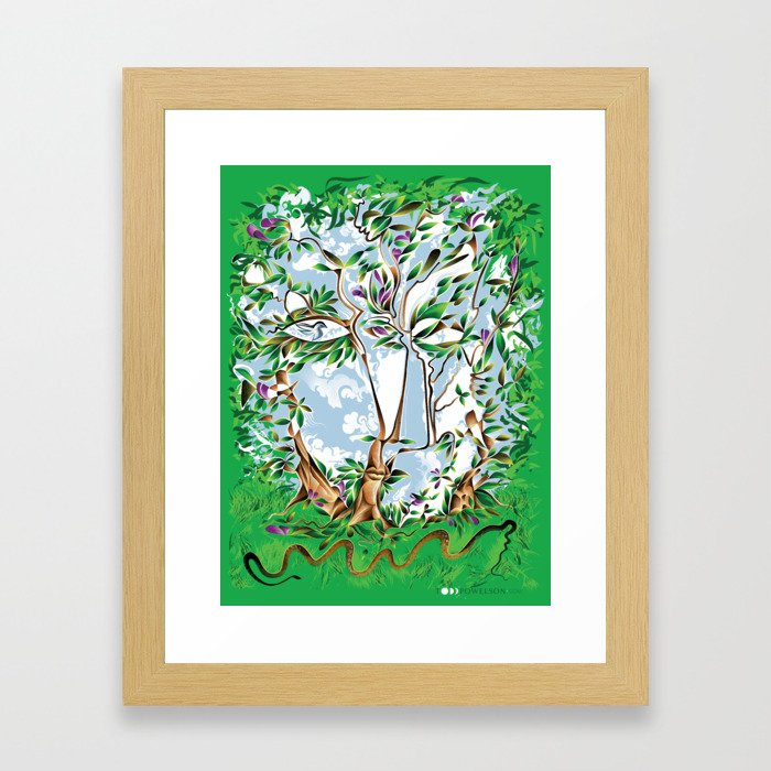 Between the Trees Framed Art Print