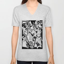 History of Art in Black and White. Conceptualism Unisex V-Neck