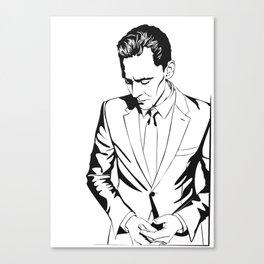 Smart casual, a portrait Canvas Print