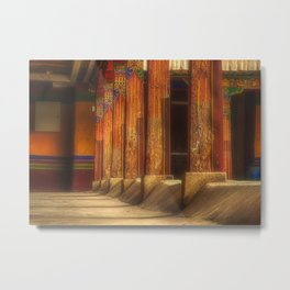 At the monastery, traditional Buddhist residential architecture (Lhasa, Tibet, Himalayas) (2016-6T19) Metal Print