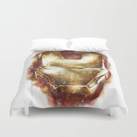 iron man Duvet Covers featuring Iron Man by beart24