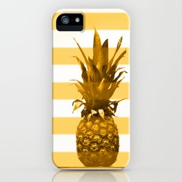 Pineapple with yellow stripes - summer feeling #decor #society6 #buyart iPhone Case