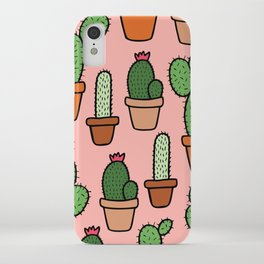 Cactus Pattern iPhone Case