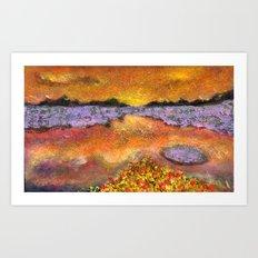 Orange Twilight Art Print