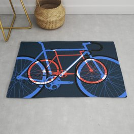 Fixed Gear Road Bikes – Blue, Purple and Red Rug