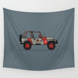 Jurassic Park Jeep Wall Tapestry