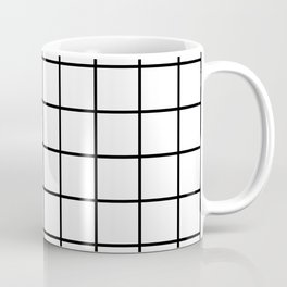 black and white grid pattern Coffee Mug