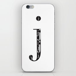"j-ception - The Didot ""j"" Project iPhone Skin"