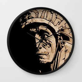 Oglala Chief Wall Clock