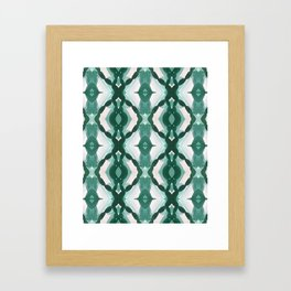 Watercolor Green Tile 1 Framed Art Print